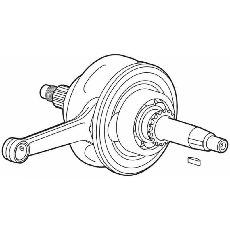 Albero motore per motore YX150 Completo ed assemblato con biell 53mm di corsa..