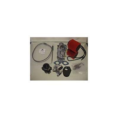 CARBURATORE TB 28mm COMPLETO DI CAVO GAS, COLLETTORE, FILTRO TB CORTO. ATTACCO CRF