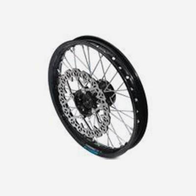 cerchio anteriore 1,4 x 14 in alluminio, mozzo CNC colore nero, compreso di disco freno