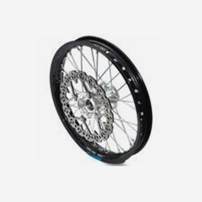 cerchio anteriore 1,4 x 14 in alluminio, mozzo CNC colore SILVER, compreso di disco freno