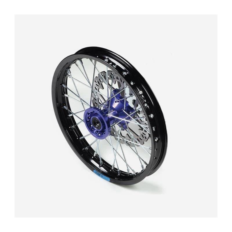 cerchio anteriore 12 in alluminio, mozzo CNC colore BLU, compreso di disco freno