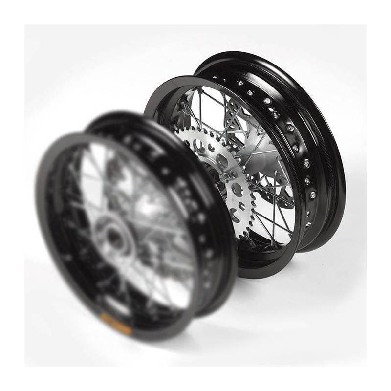 Cerchio completo in alluminio 3.00x12\' con disco, cerchio nero, mozzo di fusione