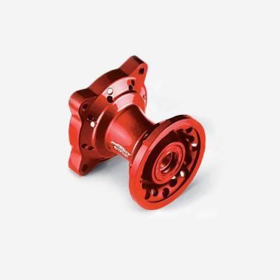 Mozzo ruota anteriore CNC ROSSO