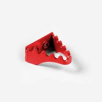 Puntale freno in alluminio rosso