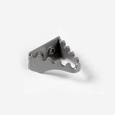 Puntale freno in alluminio silver