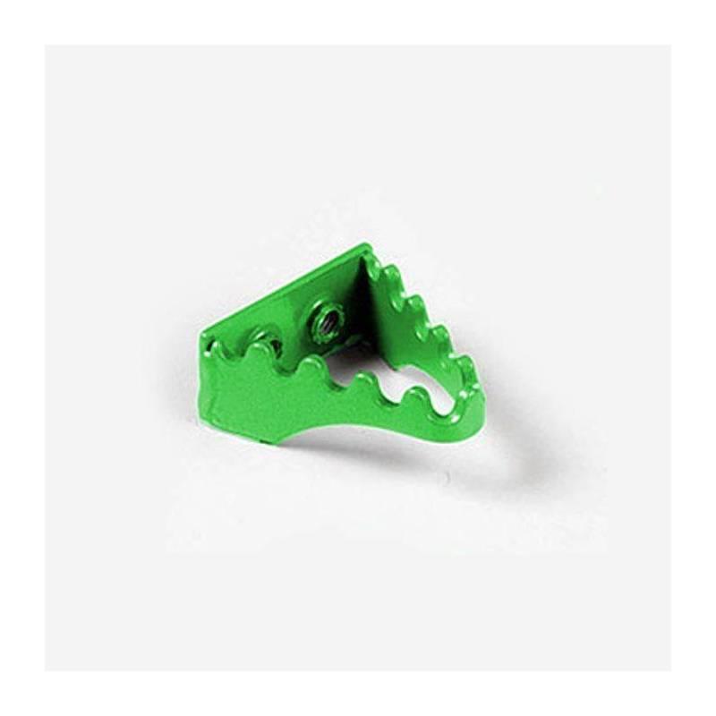 Puntale freno in alluminio verde