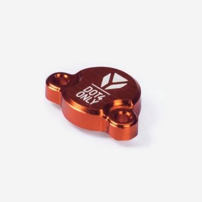 Tappo pompa freno posteriore in alluminio CNC- ARANCIONE