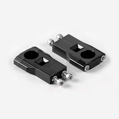 Supporti manubrio regolabili per manubrio senza traversino Diam. 28,6 interasse 25mm - Altezza 75mm