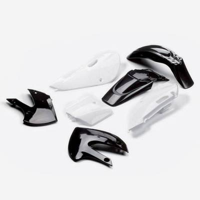 KLX Complete plastic kit Black