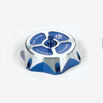 Tappo serbatoio CNC anodizzato - BLU