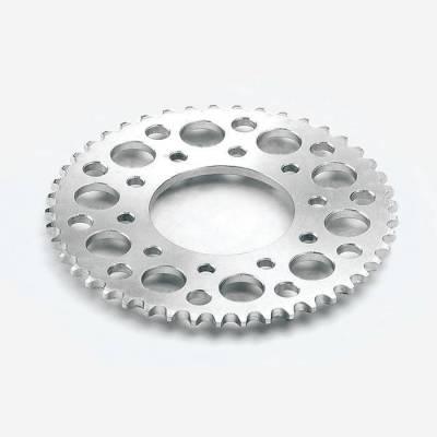 Corona in acciaio 2016, centraggio 75mm - interasse fori 92 mm, 5 fori di fissaggio - 43 DENTI