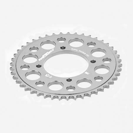 Corona in alluminio CNC 37 denti 420 anodizzata SILVER