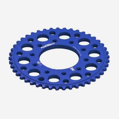 Corona in alluminio CNC 43 denti 420 anodizzata BLU