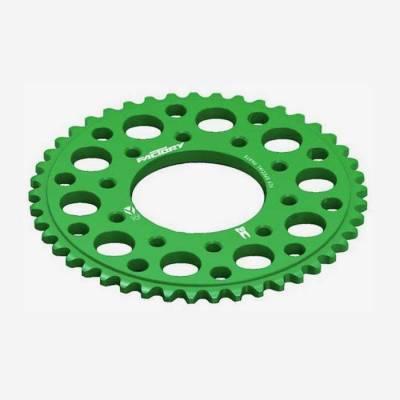Corona in alluminio CNC 43 denti 420 anodizzata VERDE