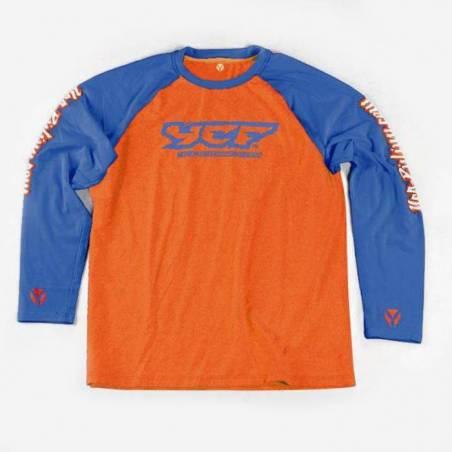 T-shirt maniche lunghe ARANCIONE / BLU XL
