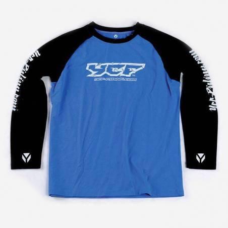 T-shirt maniche lunghe BLU L