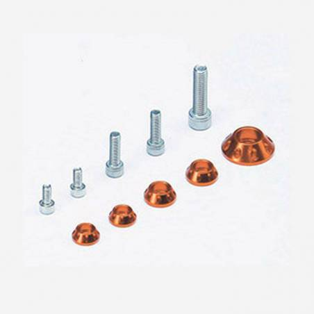 Kit rondelle in CNC per serbatoio e kit plastiche - ARANCIONE