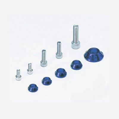Kit rondelle in CNC per serbatoio e kit plastiche - BLU