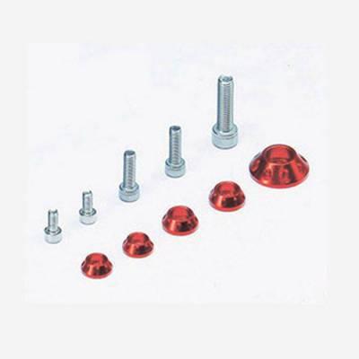 Kit rondelle in CNC per serbatoio e kit plastiche - ROSSO