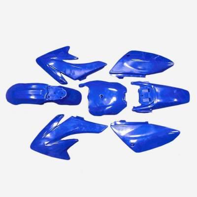 KIT PLASTICHE COMPLETE B2/CRF70 COLORE BLU. COMPLETE DI TUTTO, GOMMINI PER MONTAGGIO