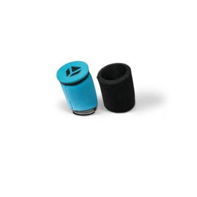 Filtro aria in spugna doppio strato diam. 38/45  (ideale per Mikuni 22 e NIBBI imbocco 45) senza molla interna