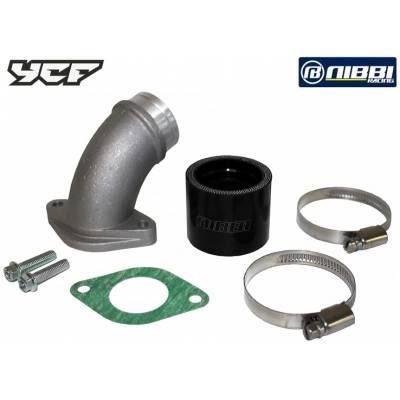 Kit Collettore in gomma e in acciaio per Carburatore NIBBI Racing 34mm